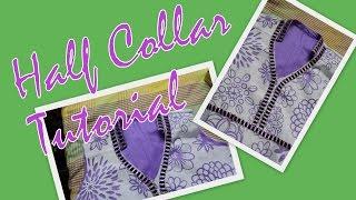 How to stitch half collar