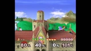 Super Smash Bros. Melee: VS. Mode - Mushroom Kingdom Princess Peach's Castle