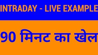Intraday Live Example - Why Technical Analysis is Important | HINDI