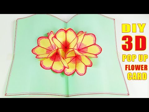 Xxx Mp4 DIY 3D Flower POP UP Card Tutorial Easy And Simple Steps Halloween Crafts POP UP Greeting Cards 3gp Sex