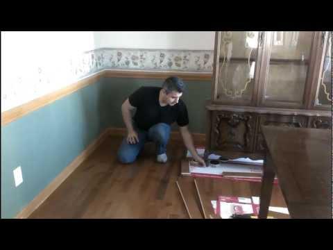 Como instalar piso flotante sobre alfombra