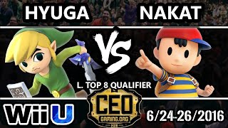 CEO 2016 Smash 4 - CLG | Nakat (Ness) Vs. SF | Hyuga (Toon Link) SSB4 Losers Top 12 - Smash Wii U