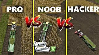 Farming Simulator 17 : NOOB vs PRO vs HACKER | Gameplay Comparison
