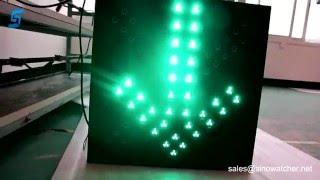 600 x 600 mm Red Cross & Green Arrow LED signal