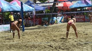 FILIPINA BEACH VOLLEYBALL at 2017 Paraw Regatta, Villa Beach, Iloilo Philippines