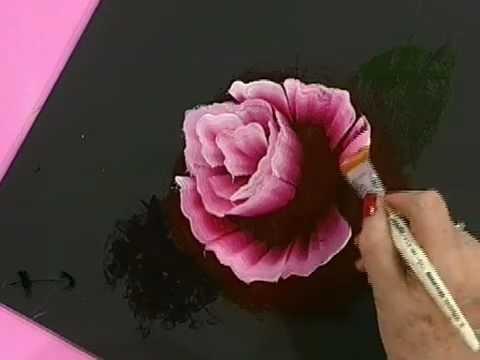 Como pintar una rosa al oleo Pinceladas Silvia Mongelos