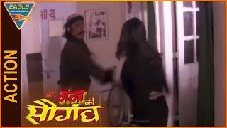 Meri Ganga Ki Saugandh Hindi Movie || Shakti Kapoor & Sapna Action Scene || Eagle Entertainment Offi