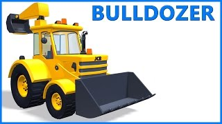 JCB Bulldozer | Cartoon Toy Truck | Educational Videos | Poems For Kids