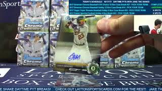 2017 Bowman Chrome Baseball Hobby 12 Box case break #14