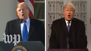 SNL's Trump emergency declaration vs. the real thing