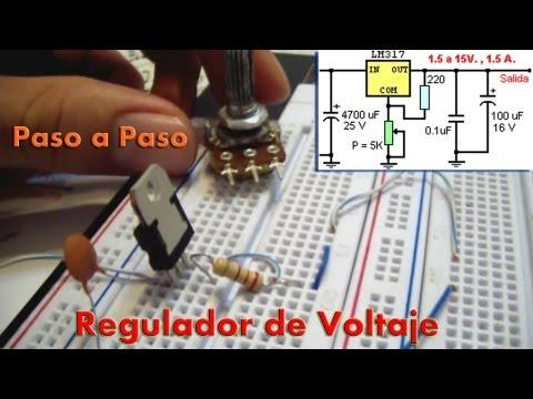 Xlaciencia Regulador de Voltaje con el LM317 T