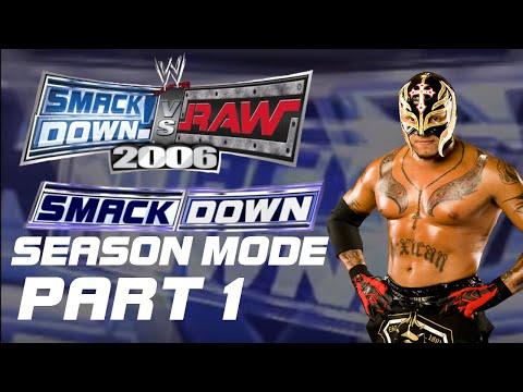 SmackDown VS Raw 2006 PS2 SmackDown Season Mode Rey Mysterio Part 1