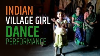 Indian Village Girl Dance Performance | From Maharashtra Karnataka Border Area | महाराष्ट्र कर्णाटक