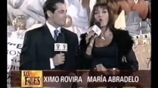 María Abradelo actuando y presentando programas en diferentes cadenas de televisión