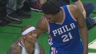 Isaiah Thomas Loses Shoe! Joel Embiid Dunks! Al Horford Clutch 3 76ers vs Celtics