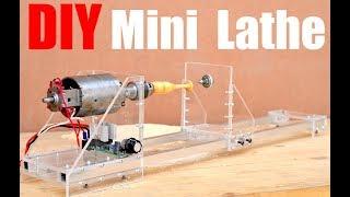 How to make a Mini Lathe Machine (Homemade Lathe/Wood Turner)