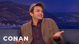 Ashton Kutcher Is So Over Charlie Sheen  - CONAN on TBS