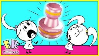 OH NO! THE STAMP IS ALIVE! Fun Adventures of EK Doodles !