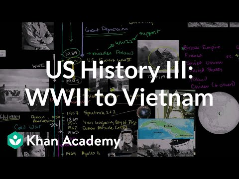 watch US History Overview 3 - WWII to Vietnam