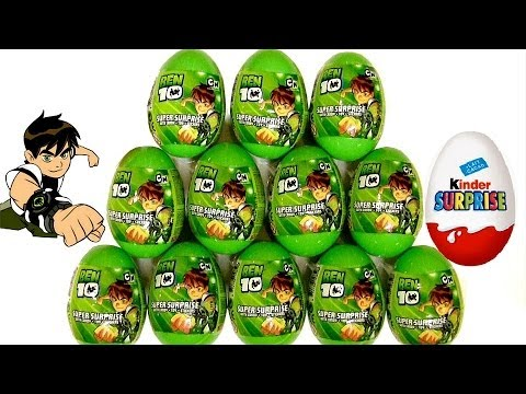 Ben10 Surprise Eggs Kinder Surprise From Cartoon Network by Blutoys Play Doh Sorpresa Huevos