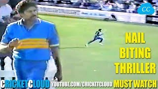 KAPIL DEV Ran Like a Cheetah to Save boundary in a NAIL BITING THRILLER - MUST WATCH !!