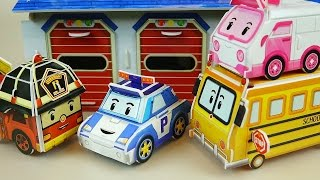 Poli Paper car toys - How to Make Robocar Poli bus & car toys 로보카폴리 종이 장난감
