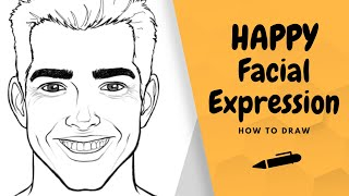 How to Draw a Happy Facial Expression