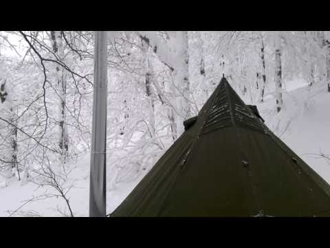 5 man arctic tent & kni co packer wood stove . There is a first for everything