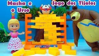 Masha e o Urso Tijolos - Jogo Construa e Destrua - Masha and The Bear Stricks Game  #amomashaeourso