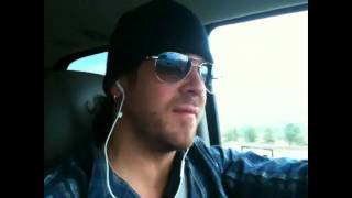 Christian Kane en route from Portland to LA and making an announcement about The Donner Party film.
