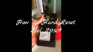 How To Hard Reset Itel It1507