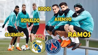 Real Madrid First Training and Preparing for The PSG Game