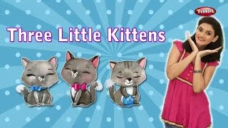Three Little Kittens Lost Their Mittens Song For Children With Actions | Nursery Action Songs Kids