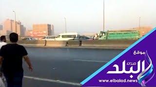 أهالي القوميه بإمبابة يطالبون بإعادة فتح السلم المؤدي إلى الدائري
