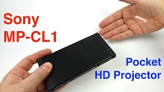 Sony Pocket HD Laser Projector - REVIEW