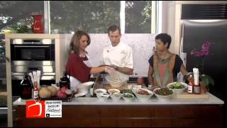Malai Kitchen in Uptown Dallas Cooking Banana Blossom Salad