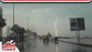 أمطار غزيرة تضرب مدينة جدة السعودية