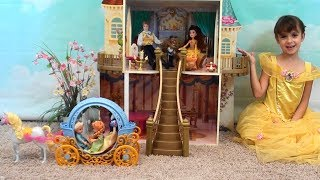 Princess Story: Princess Play Date with Anna and Elsa, Beauty and the Beast Castle, Belle Toys