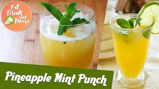 Pineapple Mint Punch - Refreshing Mocktail Recipe | Chef Girish | Flavors of South India