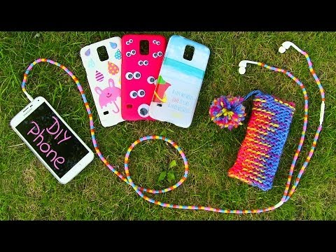 DIY 10 Easy Phone Projects. DIY Phone Case Pouch & More