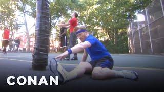 Conan Plays NYC B-Ball & Chess  - CONAN on TBS
