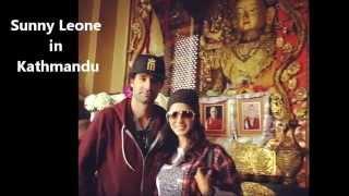 Sunny Leone in Kathamndu with her husband