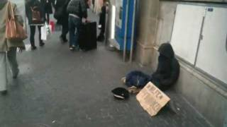 GUY PUTS DOLL TO BEG FOR MONEY IN ZURICH