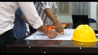 Engineer Architects Office Team Working And Discussing With Blueprints | Stock Footage