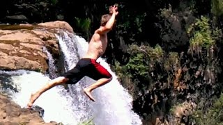 Man Who Almost Died Jumping Off Nearly 200-Foot Waterfall Says He Would Do it Again