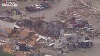 RAW: Aerial look at Jefferson City after tornado on May 22, 2019