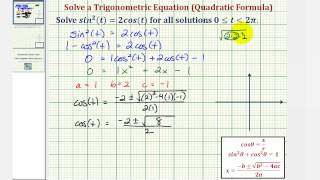 Ex: Solve a Trigonometric Equation Using Substitution and the Quadratic Formula