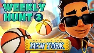 🏀 Collecting Basketballs in New York - Subway Surfers Weekly Hunt (Week 2)