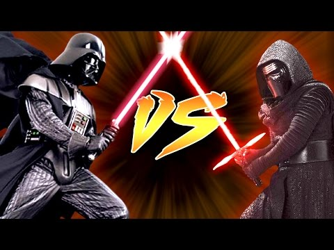 watch Kylo Ren vs Darth Vader - Who Would Win?