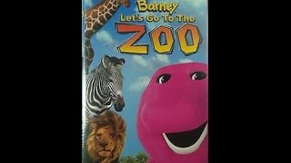 Opening to Barney: Let's Go to the Zoo 2001 VHS